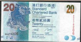 HONG-KONG P297a 20 DOLLARS 1.1.2010 #BD   UNC. - Hong Kong