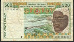 W.A.S. TOGO P810Tb 500 FRANCS (19)92  VF NO P.h. - West African States