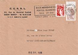 TP N° 2239 Et 2104 Sur Enveloppe De Nancy Gare - Postmark Collection (Covers)