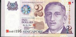SINGAPORE P45 2 DOLLARS 2000  AU-UNC. - Singapore