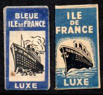Rasage. Razor Blade. Lame De Rasoir. 2 Lames Ile De France Luxe, Emballages Différents. - Razor Blades