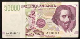 50000 Lire BERNINI II° TIPO SERIE A 1992 Spl  LOTTO.2107 - [ 2] 1946-… : Repubblica