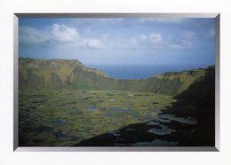 1 AK Easter Island * Rapa Nui * Osterinsel * Der Vulkankrater Rano Kau * Zu Chile * Seit 1995 UNESCO Weltkulturerbe * - Rapa Nui