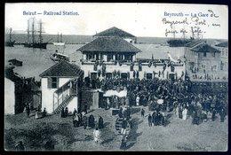 Cpa  Du Liban Beirut Railroad Station  -- Beyrouth  ACH5 - Liban