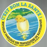 Autocollant - Mutuelle Familliale Des Travailleurs De Haute-Savoie Annecy - Autocollants
