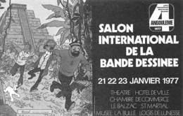 HERGE - Angoulème 4ème Salon De La Bande-Dessinée 1977 - Tintin, Milou, Le Capitaine Haddock Et Le Professeur Tournesol - Comics