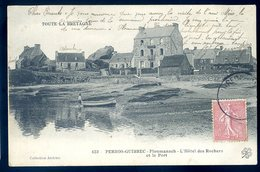 Cpa  Du 22  Perros Guirec Ploumanach , L' Hôtel Des Rochers Et Le Port   ACH5 - Perros-Guirec
