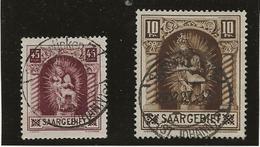 SARRE - N° 101 ET 102 OBLITERES - ANNEE 1925 -  COTE / 42 € - 1920-35 Saargebiet – Abstimmungsgebiet