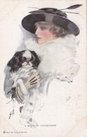 Cpa 2 Scans Illustrateur HARRISON FISHER Femme Belle époque Reinthal & Newman Künstler 1917 By The Star Co - Boileau, Philip