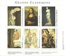 France Vignettes Grands Classiques De La Culture Musée Du Louvre - Vignettes De Fantaisie