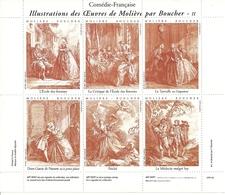 France Vignettes Comédie Française Oeuvres De Molière Par Boucher - Vignettes De Fantaisie
