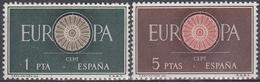 ESPAÑA 1960 Nº 1294/1295 NUEVO PERFECTO - 1931-Hoy: 2ª República - ... Juan Carlos I