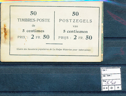 BELGIQUE CARNET ANCIEN CARNET DEFRAICHI   3 FEUILLES COMPLETES  SANS GOMME - Booklets 1907-1941