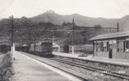 Yujima Japan, Electric Train At Train Station Railroad Depot, C1920s/30s Vintage Postcard - Japan
