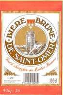 Etiquette De Biere :Biere Brune De Saint OMER - Bière