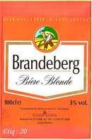Etiquette De Biere :Biere Blonde BRANDEBERG - Bière