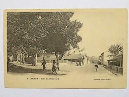C. P. A. Couleur : Sénégal : DAKAR : Coin Du Boulevard, Animé - Sénégal
