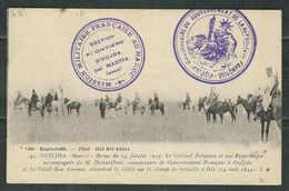 MAROC 191? CPA Mission Militaire Oujda - Marcophilie (Lettres)
