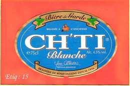 Etiquette De Biere :La Biere Blanche CH TI - Bière