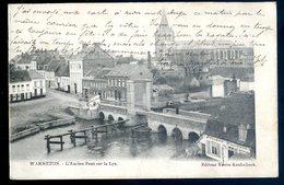 Cpa  De Belgique Warneton L' Ancien Pont Sur La Lys  ACH5 - Comines-Warneton - Komen-Waasten