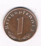 1  PFENNIG 1939 A   DUITSLAND /2325/ - [ 4] 1933-1945 : Troisième Reich
