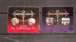 1994 Latvia , Lettland CEPT, Europa  Straight Scales - Used (0) Full Set - Lettonie