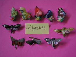 Serie Complète De 10 Fèves Allemandes En Porcelaine LES PAPILLONS 1940 - Rare ( Feve Figurine Miniature ) - Anciennes