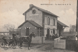 76 Motteville. La Gare Du C.F.N .  Tortillar. Cachet Ambulant - France