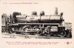 ¤¤  -   Carte-Photo   -  Les Locomotives Françaises ( ETAT )  -  Machine N° 230-994  -  Chemin De Fer   -  ¤¤ - Matériel