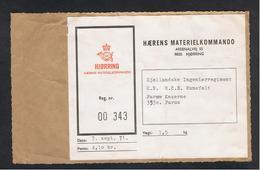 DANEMARK:  HJORRING  -  LABEL  HAERENS  MATERIELKOMMANDO  -  Cm. 13,5 X 11 - Militaria