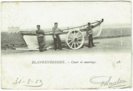 Blankenberghe. Blankenberge. Canot De Sauvetage. - Blankenberge
