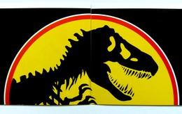 Stickers ''Jurassic Park'' 1993 - 2 Pcs, Pair - Vignettes Autocollantes