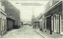 Watou. Het Postkantoor En De Vijfhoekstraat. Choc Au Coin Gauche En Bas. - Poperinge