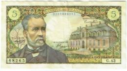 Billet. France. 5 Francs. Pasteur. 4-11-1966. - 1962-1997 ''Francs''