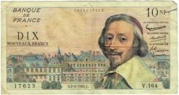 Billet. France. 10 Nouveaux Francs. 10 NF. Richelieu. 2-2-1961. - 1959-1966 Nouveaux Francs