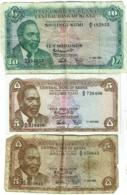 Billet. Kenya. Lot De 3 Billets. 2 X 5 Et 1 X 10 Shillings. 1-7-1966. - Kenya
