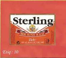 Etiquette De Biere :Biere Blonde STERLING - Bière