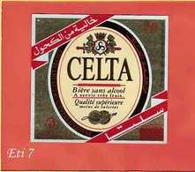 Etiquette De Biere :Biere Sans Alcool CELTA - Bière