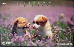 Telefonkarte Japan - Hund , Dog - 111-059 - Hunde