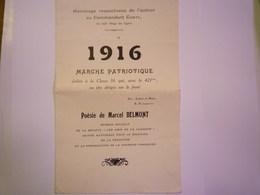 GP 2019 - 615  421ème Régiment De Ligne  -  Marche Patriotique Dédiée à La CLASSE 16   XXXX - Documents