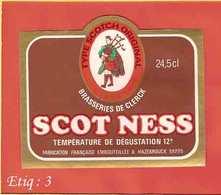 Etiquette De Biere :Scotch Ness  DeClerck HAZEBROUCK - Bière