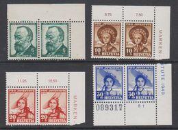 Switzerland 1940 Pro Juventute 2v (pair, Corners) ** Mnh (42192) - Pro Juventute