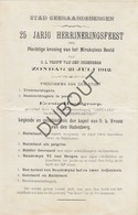 OUDENBERG/GERAARDSBERGEN Herrineringsfeest Kroning Miraculeus Beeldje Oudenberg 1912 - Stoet (N59) - Faire-part