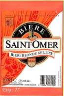 Etiquette De Biere :Biere Blonde De Saint OMER - Bière