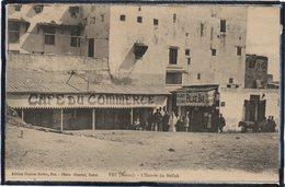 FEZ - FES - MAROC - CAFE DU COMMERCE - L'ENTREE DU MELLAH - PALACE BAR - ANIMATION - BEAU PLAN - Fez (Fès)