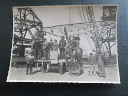 PHOTO ANCIENNE CALAIS PORT DOCKER CONSTRUCTION TRANSATLANTIQUE 12 X 17 CM - Foto
