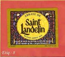 Etiquette De Biere :Biere Blonde Saint Landelin - Bière
