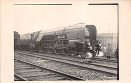 "¤¤  -   Carte-Photo  -   Locomotive Anglaise "" COCK O' NORTH ""   -  Chemin De Fer  -  Cheminots   -  ¤¤ - Matériel"