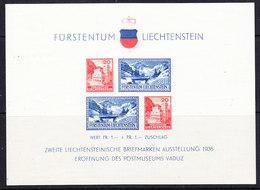 Liechtenstein 1936 Postmuseum Vaduz M/s ** Mnh (42193) - Blokken