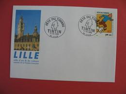 Enveloppe N° 3303 Fête Du Timbre 2000 - Cachet Lille - Ville D'Art & De Culture Capitale De La Flandre Française - Storia Postale